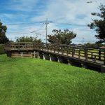 石田堤史跡公園。石田三成が忍城水攻めのために築く、埼玉県鴻巣市