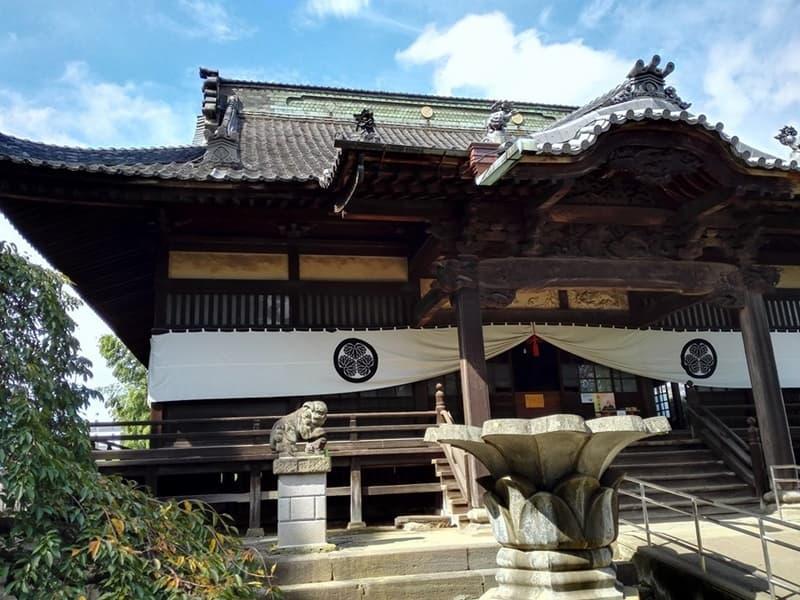 勝願寺。小松姫・仙石秀久の墓、三つ葉葵を許される。鴻巣市本町,画像03