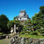 長浜城。別名は今浜城。羽柴秀吉が小谷城攻めの功績により拝領。三献の茶